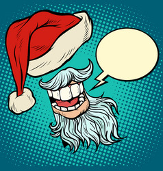 santa claus beard and hat vector image
