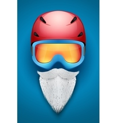 Santa Claus symbol with helmets and goggles vector