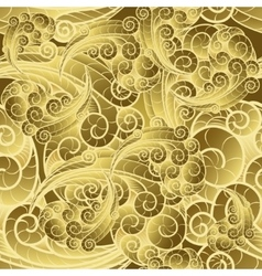 Seamless Golden Swirls Pattern vector image