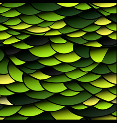 Seamless pattern green snake scales vector