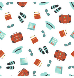 seamless pattern tourist objects vector image