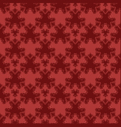 Seamless pattern with red damask ornament vector