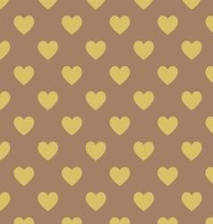 Seamless polka dot dark brown pattern vector