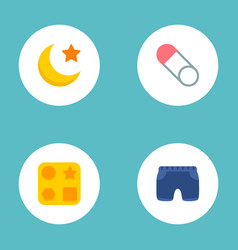 Set of child icons flat style symbols with baby vector