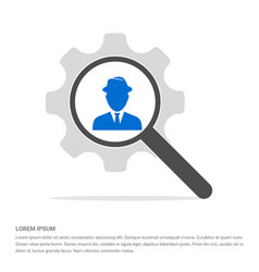 spy user icon search glass with gear symbol icon vector image