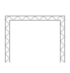 Steel truss girder 3d construction equipment vector
