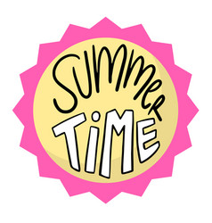 summer time circle pink frame background im vector image