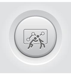 Teamwork Icon Grey Button Design vector