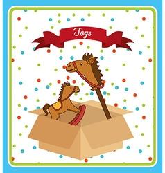 Toys box vector