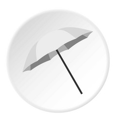 Umbrella icon circle vector