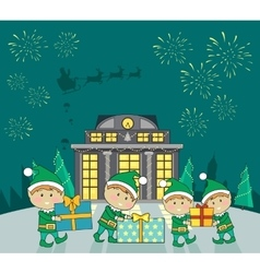 Winter holidays concept in flat design vector