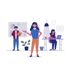 workers in office vector image