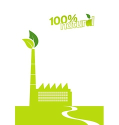 Ecology factory art vector image vector image