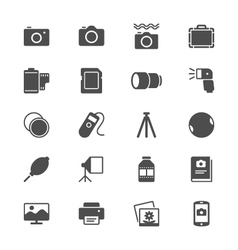 photography flat icons vector image vector image