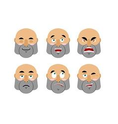 Emotions man Set emoji avatar people Good and evil vector image