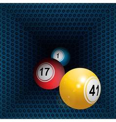 Metallic honeycomb tunnel and bingo balls vector image vector image