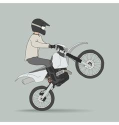 Biker on off-road motorcycles vector image