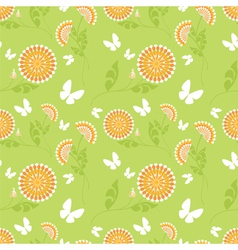 bright flowers vector image