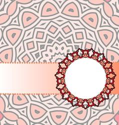 frame red mandala vector image vector image
