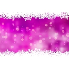 Purple background with snowflakes EPS 8 vector image vector image