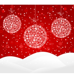 white snowflakes baubles vector image vector image