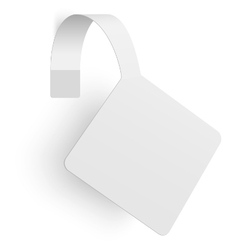 White square rhombus paper advertising wobbler vector image vector image