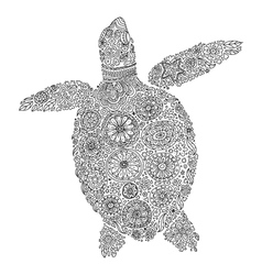 abstract sea turtle vector image vector image