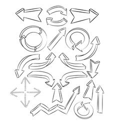 arrows sketchy elements vector image