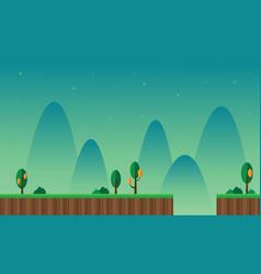 Art scenery cartoon style game background vector