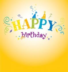 bright birthday vector image vector image