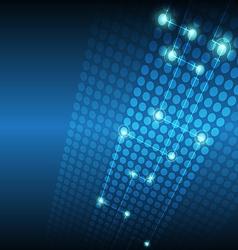 digital network technology background vector image vector image