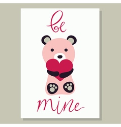 Love Card with bear vector image vector image
