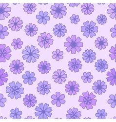 Seamless flat violet Flower Background vector image vector image