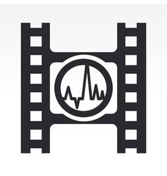 wave audio icon vector image vector image