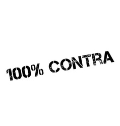 100 percent contra rubber stamp vector