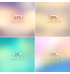 Abstract colorful blurred backgrounds set 16 vector