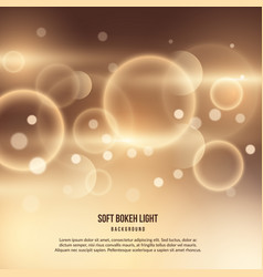 Abstract gold background with bokeh effect vector