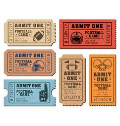 american football tickets vector image