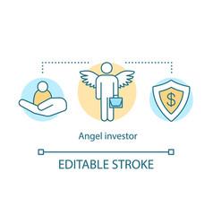 Angel investor concept icon vector