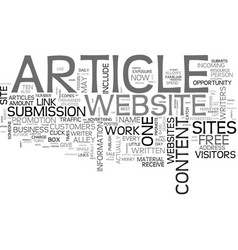 Article sites text word cloud concept vector