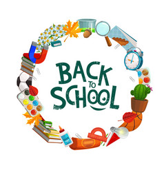 back to school college student education supplies vector image