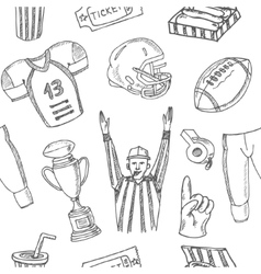 Baseball seamless pattern sketches of various vector