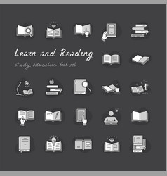 Books set in flat design style isolated on white vector