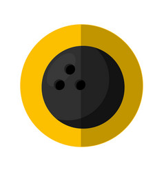 bowling sport isolated icon vector image