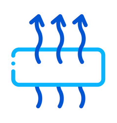 Breathable mattress icon outline vector