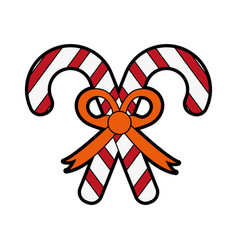 Candy cane christmas related icon image vector