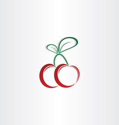 cherry symbol design element vector image