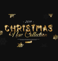 christmas 2019 new collection banner template for vector image