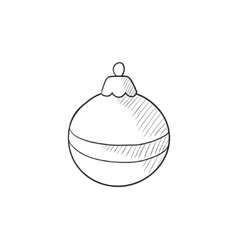 Christmas-tree decoration sketch icon vector image