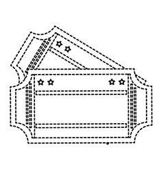 cinema ticket isolated icon vector image vector image